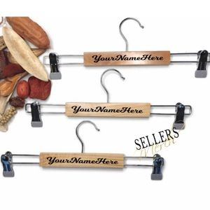 Solid Wood Pants/Skirt Hangers in Color Natural